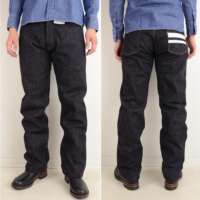 直率制造古典特浓靛蓝15.7盎司粗斜纹布上阵牛仔裤的画像6