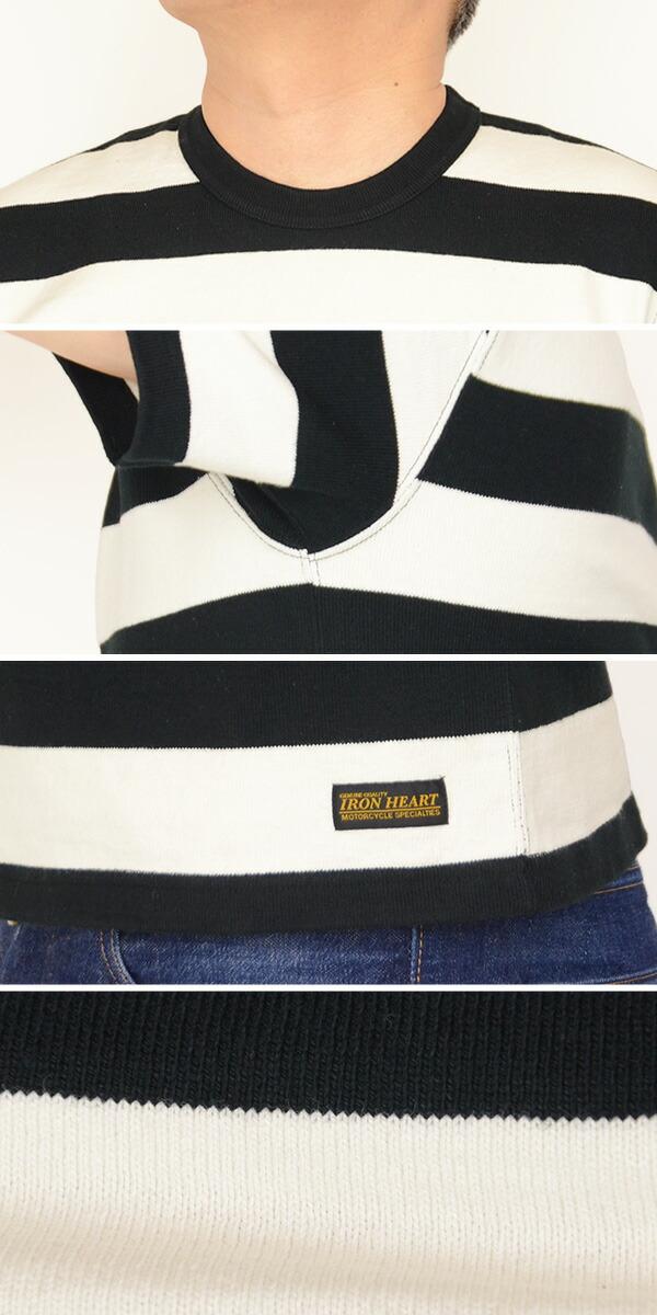 IRON HEART アイアンハート IHTB-06[a5]ヘビーウェイト 2インチボーダーTシャツ 半袖 の画像  5