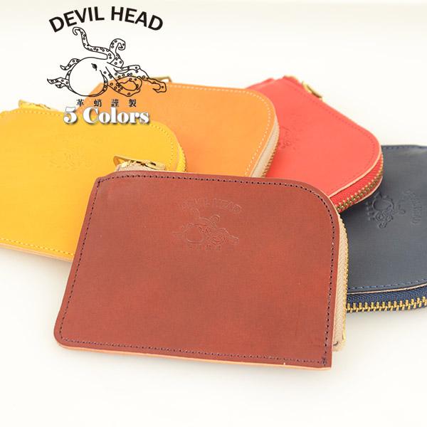 メンズ 革蛸 DEVIL HEAD デビルヘッド K-2 L字ファスナーコインケース[ay]財布 ワレット ウォレット 昭南皮革 イタリアンレザーのような日本の革 の画像4