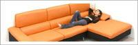 カウチソファ コーナーソファ ソファ L字 大型 ファブリック 布張り L字型ソファ 左カウチ カウチ 左 選べる3色 レッド オレンジ グレー ブラック バイカラー