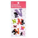 Alphabet sticker ◎ Mickey & mini 《 N 》☆ disney (デコシール) mail order☆●