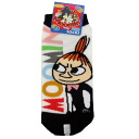 Lady's socks ◎ Mumin /Moomin 《 logo /WH X BK 》☆ animated cartoon character miscellaneous goods (socks for women) mail order☆●