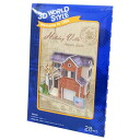 3D solid puzzle (28 pieces )◎ U.S.A. 《 holiday handbill /Holiday villa 》☆ interior toy mail order ☆ / bell common)●