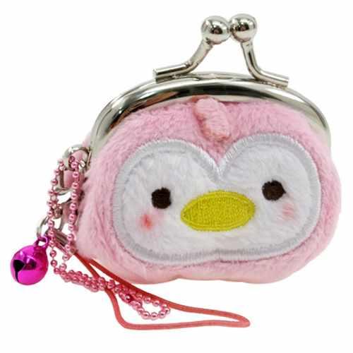 可爱的动物公园水族馆案例硬币钱包 ptigamaguchi 粉红色企鹅动物玩具