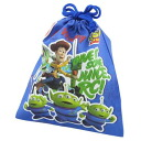 Drawstring purse bag (M) Toy Story 《 blue 》☆ boy disney (entrance to school, new school term miscellaneous goods) mail order☆●