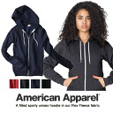AMERICAN APPAREL/ American apparel / Flex Fleece Zip Hoody/ フレックスフリースジップフッディ / parka / Lady's unisex / black gray navy pink
