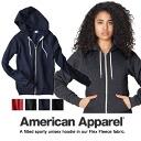 AMERICAN APPAREL/ American apparel / Flex Fleece Zip Hoody/ フレックスフリースジップフッディ / parka / Lady's unisex / black gray navy pink