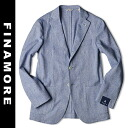 It leaks, and jacket 2014 FINAMORE step in the spring and summer returns, and blue cotton Naples Italy made with 3B アンコン is made in Fina
