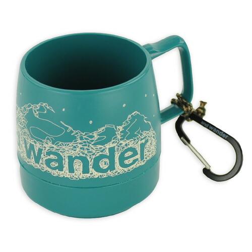 and wander DINEX printed mug teal