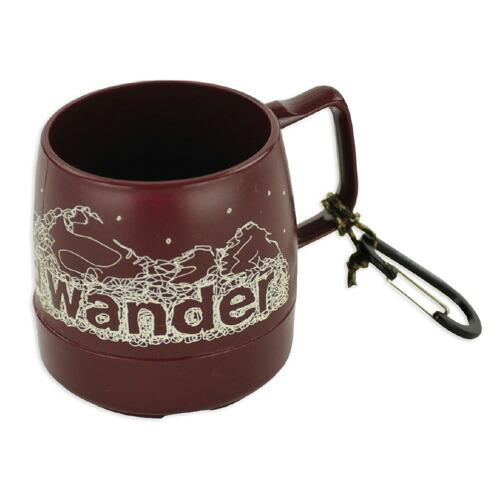 and wander DINEX printed mug cranberry
