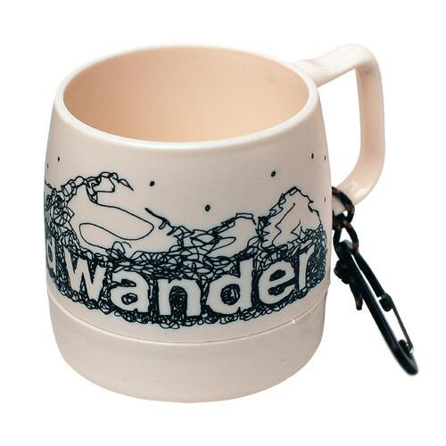 and wander DINEX printed mug off white