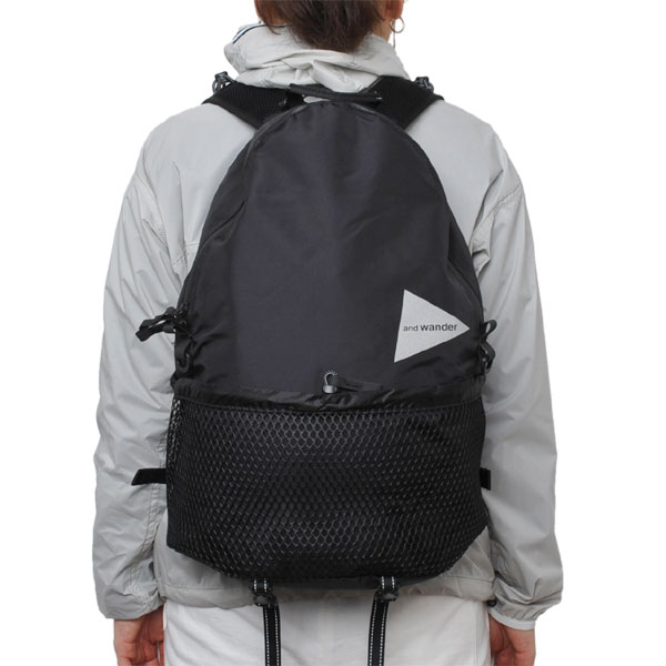 and wander 20L backpack black