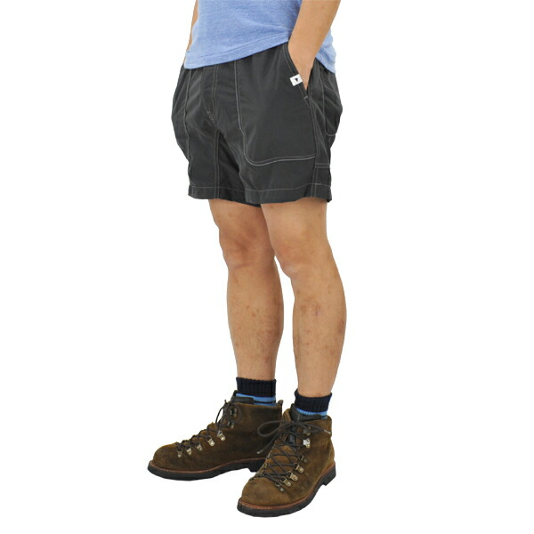 and wander nylon climbing short pants charcoal