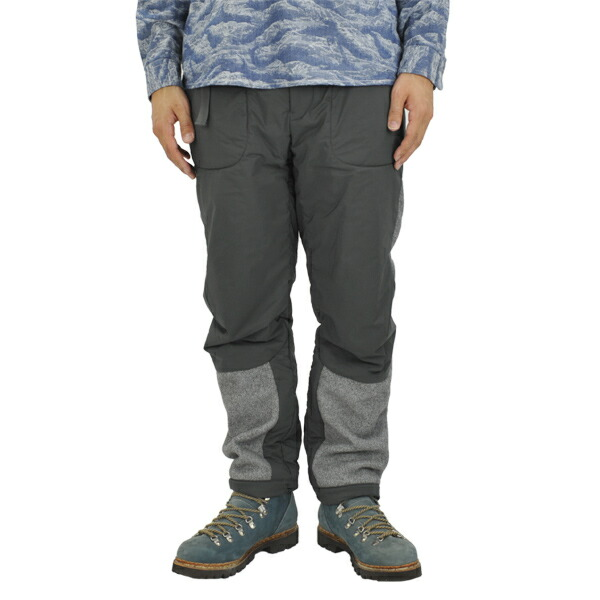 and wander twill fleece pants gray