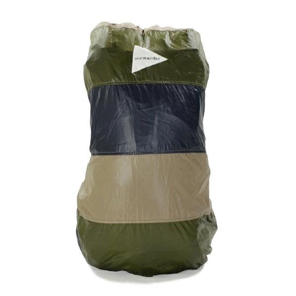 and wander mixed color cover bag khaki