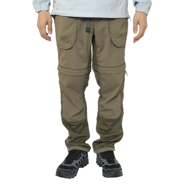 and wander trek 2way pants khaki