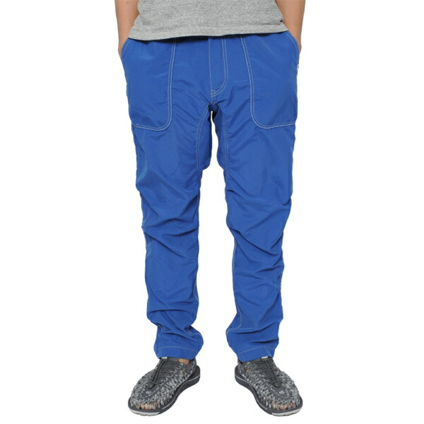 and wander nylon climbing pants blue