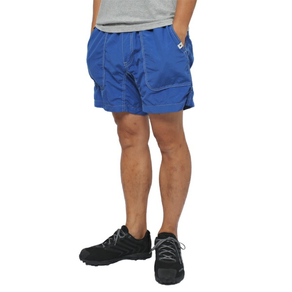 and wander nylon climbing short pants blue