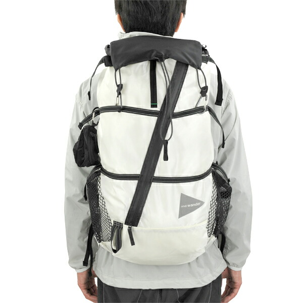 and wander 40L backpack white