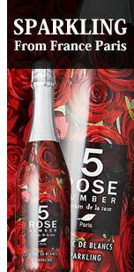 逆さに持つと花束のようなデザインの赤ワイン入り!