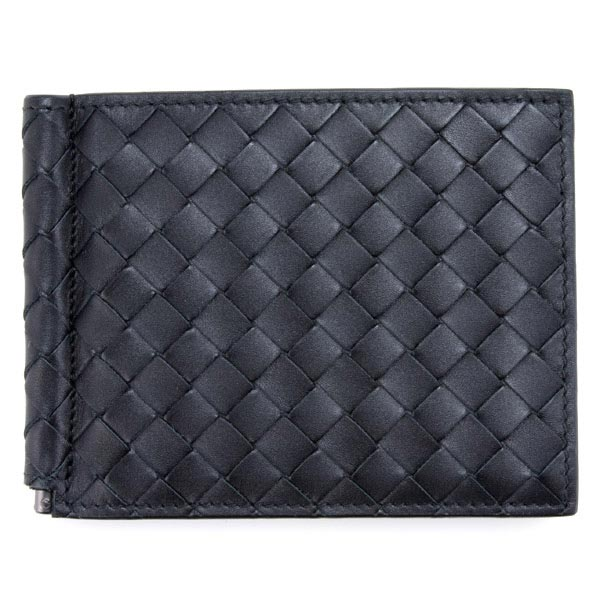 ボッテガヴェネタ 財布 BOTTEGA VENETA メンズ 二つ折り マネークリップ付き 123180 V4651 1000 ブラック