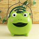 Yakushi kiln incense summer play frog 蚊遣 equipment (green) (475)