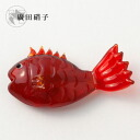 Hirota glass glass chopstick rest snapper Red