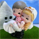 微型娃娃情侣公仔 002 公主抱娃娃手工制作欢迎所有和礼品,婚礼上,小