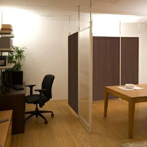 つっぱり式パーテーションボード 幅90cm ダイニングスペースや書斎スペースに