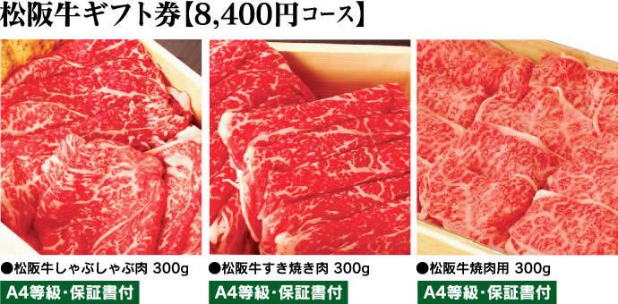 松阪牛ギフト券8400円コース