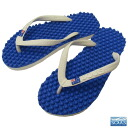 Beach sandal foot sole massage effect immensely Australia massage Sandals Souls ( souls ) ブルーモルディビアン / flag unisex