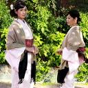 """Kashmir embroidered scarf wool 100% beige × black ' shawl kimono scarf coat stuff"