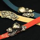 Japanese soccer antique gold band clamp fittings sash kimono yukata kimono kimono sash