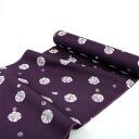 Luxury pure silk nagajuban dark purple snow ring silk 100% tailored