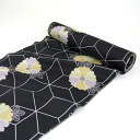 """Luxury silk nagajuban ground black tortoiseshell chrysanthemum flowers"" Silk 100% tailored"