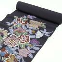 Pure silk dyed crepe 9-Nagoya-Obi kimono