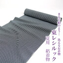 "East レシルック 夏用絽洗 kimono fine pattern ""monochrome cross-woven lattice"" (fine pattern) to get cloth washable kimono newly made"