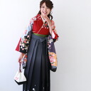 Graduation ceremony rental woman hakama set her brilliant piece original BP graduation ceremony hakama set 2 Shaku sleeves kimono and hakama set rent cheap engineering red hakama hakama rental