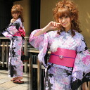 "Yukata set women still weave yukata 3 pieces ""blur Black Peony pattern ' yukata belt clogs Womens retro women kimono ladies yukata set-[tax included]"