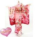753 New year Festival Hinamatsuri kimono Hon's in Miyu Honda wanted result sum remains MIYUSTYLE pink floral Shichi 四つ身 kimono full set! Same as Honda wanted Chan coordination! Return [] za2