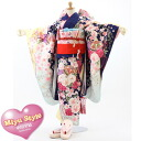 Festival Hinamatsuri kimono Festival costumes Hon's in Miyu Honda wanted result sum remains MIYUSTYLE Navy Blue floral Shichi 四tsu身 kimono full set! Same as Honda wanted Chan coordination! Return []