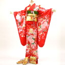 """Red butterflies and flowers ' Festival new year Festival Hinamatsuri kimono Shichi 四つ身 kimono full set! 753 kimono []"
