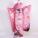 Pure silk Kyo Yuzen kimono rental adult set 20 points set pink adult ceremony from weddings and formal kimono kimono galumnidae trusting rental れんたる comingof inbetween セイジンシキ bag bag