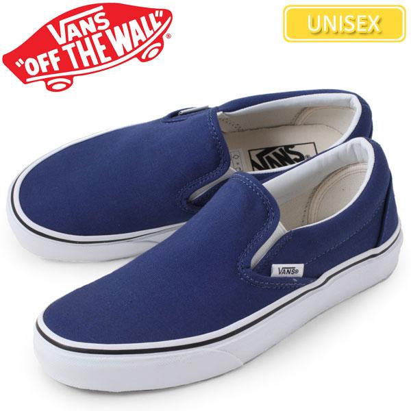 blue vans classic slip on