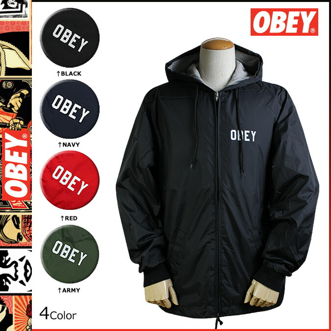 Obey Windbreaker Jackets | Outdoor Jacket