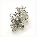 银子花动机塔希提岛珍珠胸针