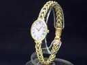 Tiffany - Tiffany&Co. - Oval long novel index antique quartz pure gold Lady's