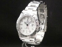 2 16570 Rolex - ROLEX - Explorer D turn SS case /SS breath men white clockface pure box attachment