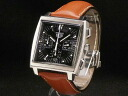 Tag Heuer - TAG HEUER - Monaco chronograph automatic genuine leather men's