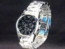 Emporio Armani-Emporio Armani classic chronograph quartz SS case /SS breath men's